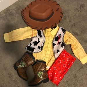 Other - Woody costume shirt size 2T, boots size 6.